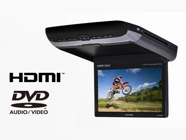 Overhead Monitor DVD-Player HDMI-10-inch black Rearseat PKG-RSE3HDMI ALPINE