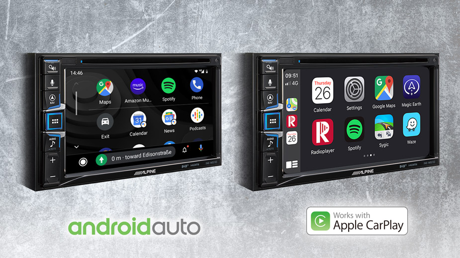 Apple CarPlay & Android Auto Compatibility - INE-W611D