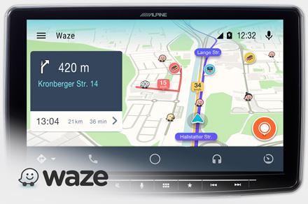 Alpine iLX-F903D - Waze