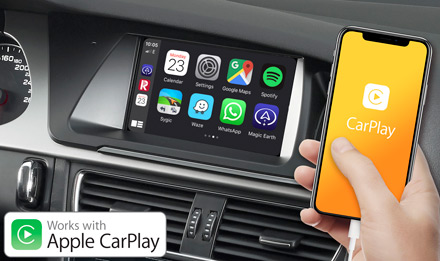 Audi A4 - Works with Apple CarPlay - X703D-A4