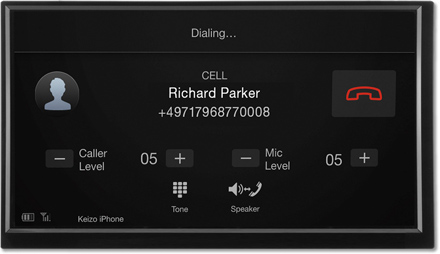 Bluetooth hands-free Dialing - Navigation System X701D-F